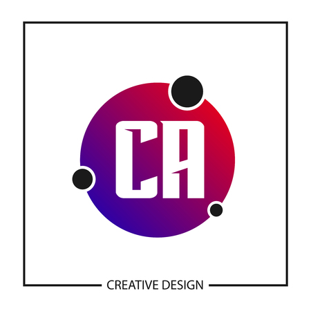 Initial Letter CA Template Design