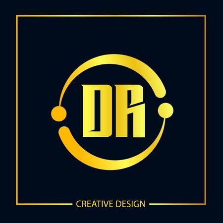 Initial Letter DR Template Design Illustration