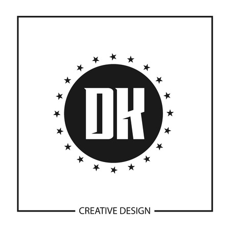 Initial Letter DK Template Design