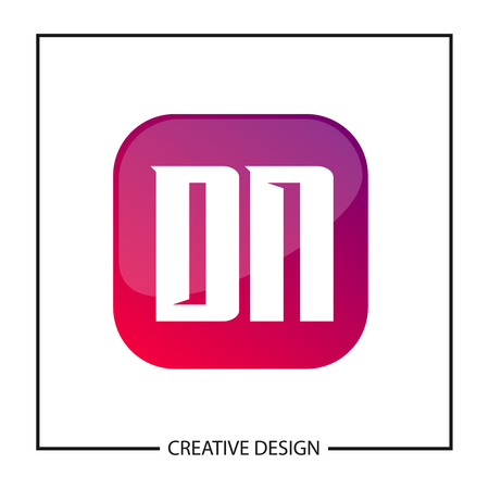 Initial Letter DN Template Design