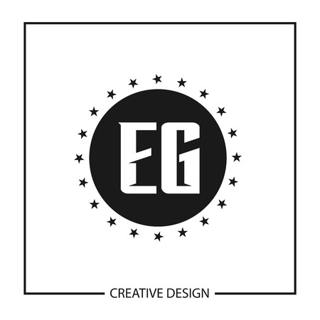 Initial Letter EG Template Design Vektoros illusztráció