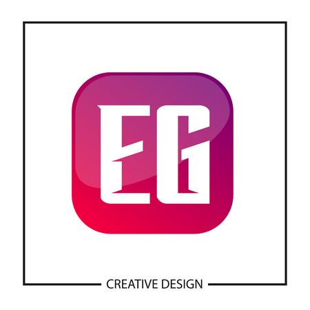 Initial Letter EG Template Design