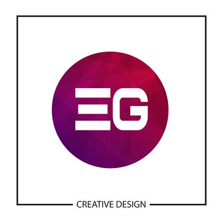 Initial Letter EG Template Design Ilustração