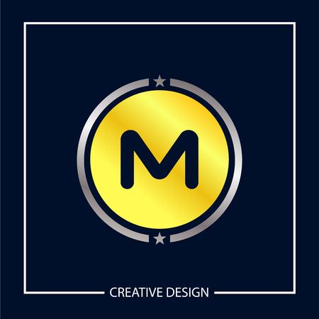 Initial Letter M template vector design Illusztráció