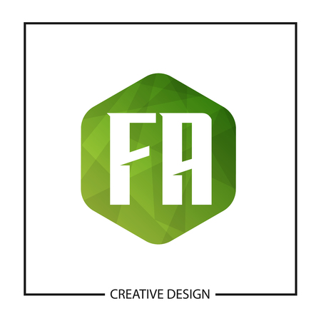 Initial Letter FA Template Design