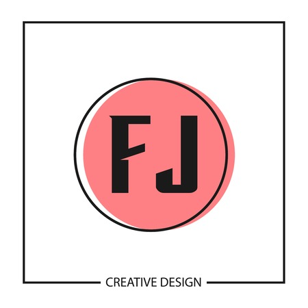 Initial Letter FJ Template Design Vektoros illusztráció