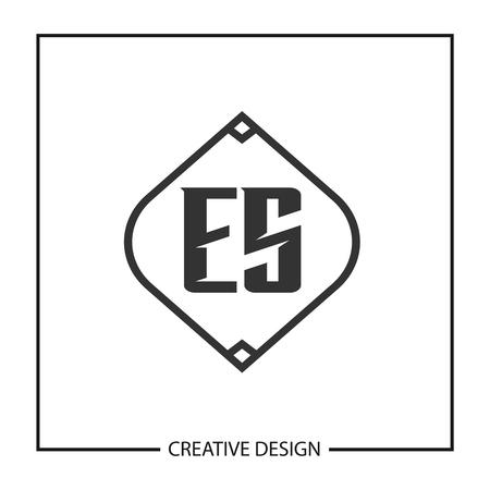 Initial Letter ES Template Design Vektoros illusztráció