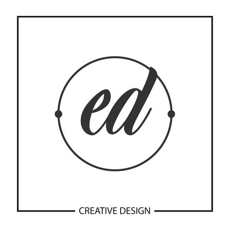 Initial Letter ED Template Design Illustration