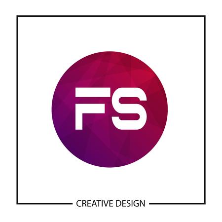 Initial Letter FS Template Design Banco de Imagens - 122145109