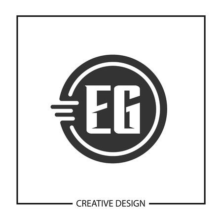 Initial Letter EG Template Design Illustration