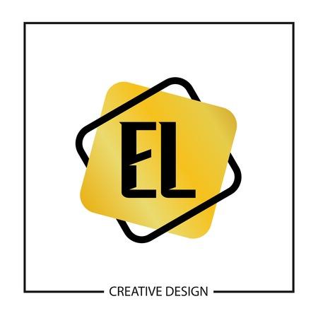 Initial Letter EL Template Design