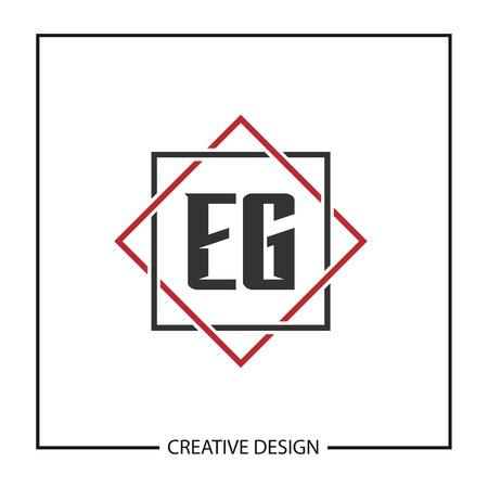 Initial Letter EG  Template Design Banco de Imagens - 124902727