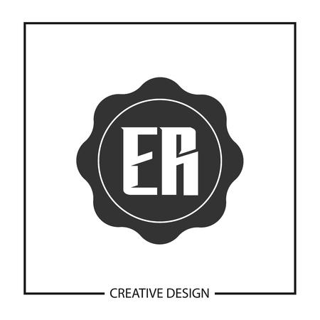 Initial Letter ER  Template Design