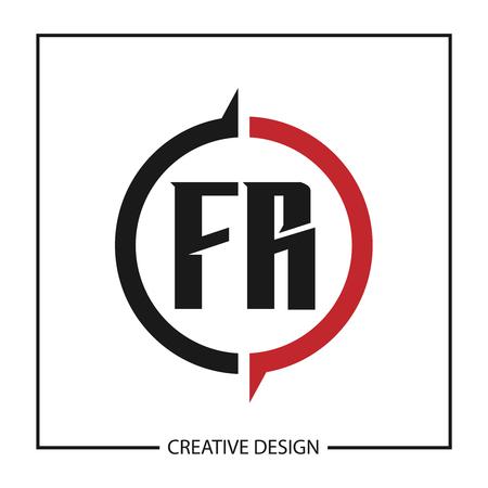 Initial Letter  FR Template Design Stock Vector - 124902845
