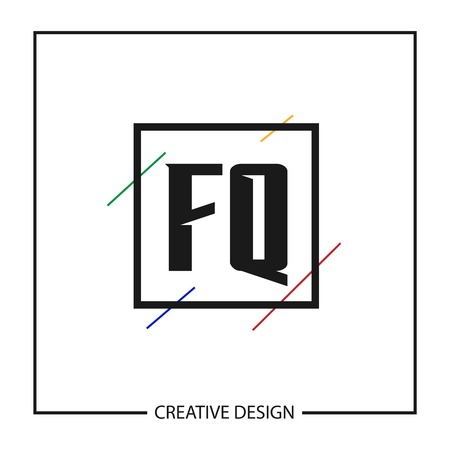 Initial Letter  FQ Template Design Ilustracja
