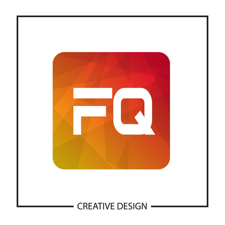 Initial Letter  FQ Template Design Illustration