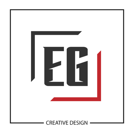 Initial Letter EG Template Design Illustration