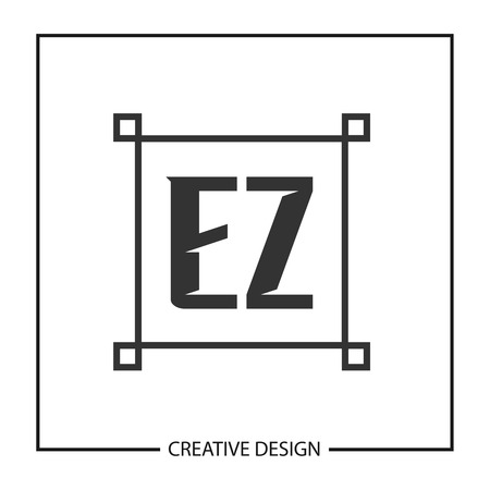 Initial Letter EZ Template Design Illustration