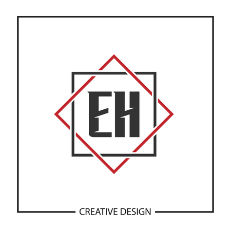 Initial Letter EH Template Design Illustration