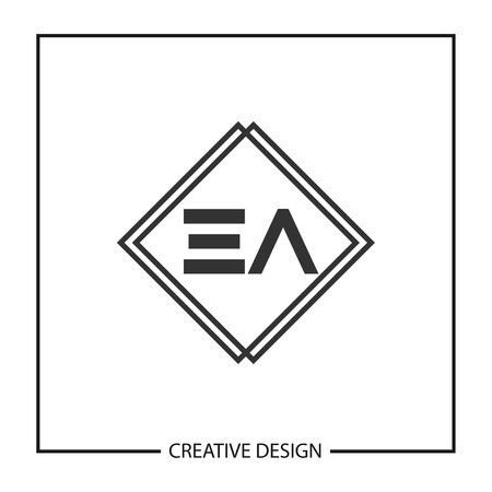 Initial Letter EA Template Design Illustration