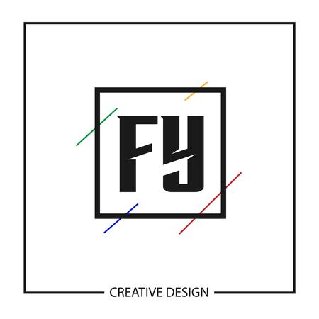 Initial Letter  FY Template Design Ilustrace