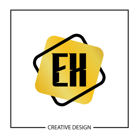 Initial Letter EX  Template Design