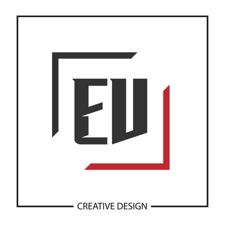 Initial Letter EV  Template Design