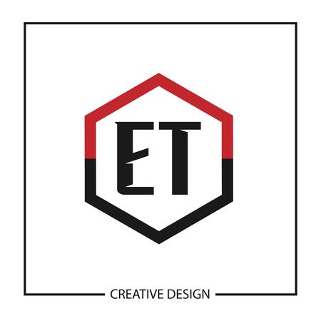 Initial Letter ET  Template Design Ilustração