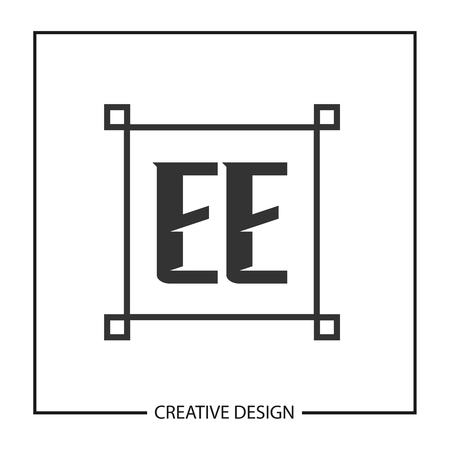 Initial Letter EE  Template Design