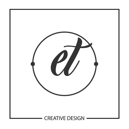 Initial Letter ET  Template Design  イラスト・ベクター素材