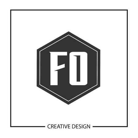Initial Letter FO  Template Design