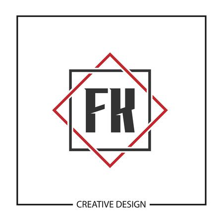 Initial Letter FK  Template Design Ilustrace
