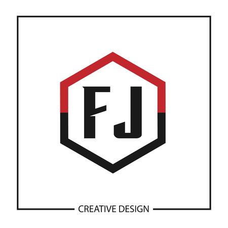Initial Letter FJ  Template Design  イラスト・ベクター素材