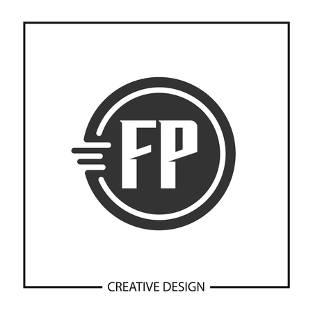 Initial Letter FP  Template Design  イラスト・ベクター素材
