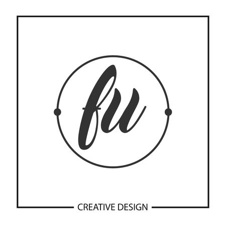 Initial Letter FU Template Design