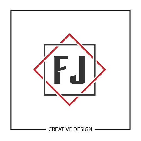 Initial Letter FJ  Template Design Ilustração