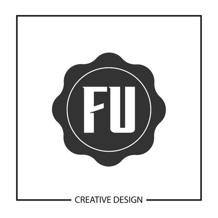 Initial Letter FU  Template Design Ilustração