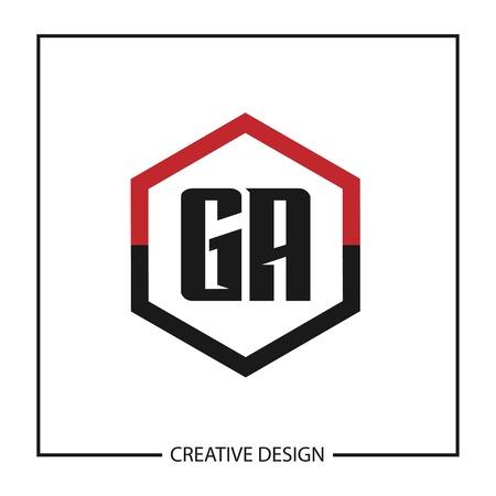 Initial Letter GA  Template Design