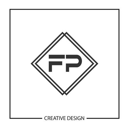 Initial Letter FP  Template Design Ilustrace