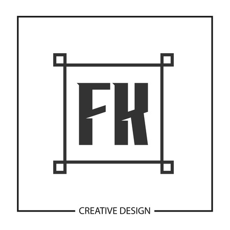Initial Letter FK  Template Design  イラスト・ベクター素材