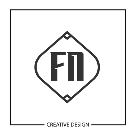 Initial Letter FN  Template Design