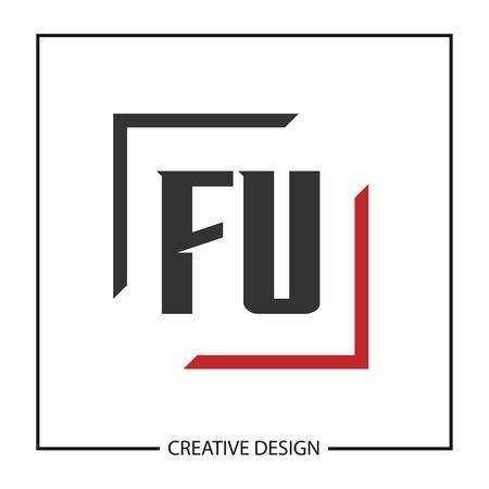 Initial Letter FU  Template Design Ilustrace