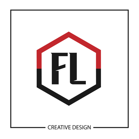 Initial Letter FL  Template Design  イラスト・ベクター素材