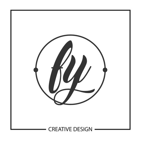 Initial Letter FY  Template Design