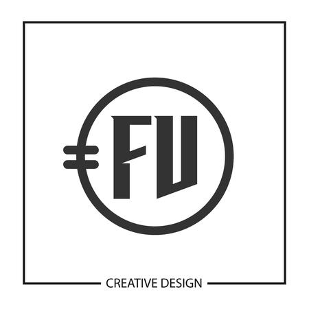 Initial Letter FV  Template Design
