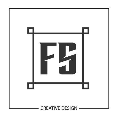 Initial Letter FS  Template Design Ilustrace