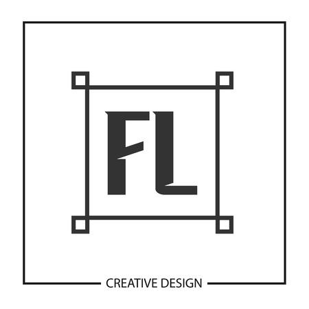 Initial Letter FL  Template Design Illustration