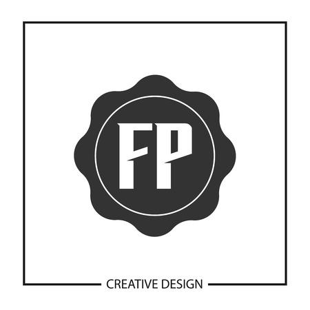 Initial Letter FP  Template Design Иллюстрация