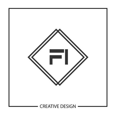 Initial Letter FI  Template Design