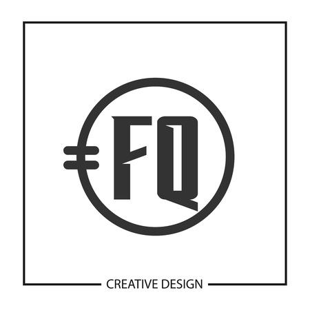 Initial Letter FQ Template Design Иллюстрация